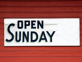 Sonntag geöffnet