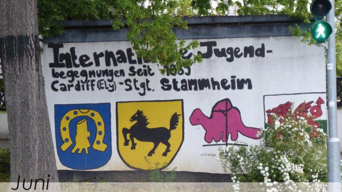 Graffitiwand gegenüber Jugendhaus Stammheim